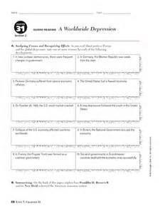 causes of the great depression worksheet davezan