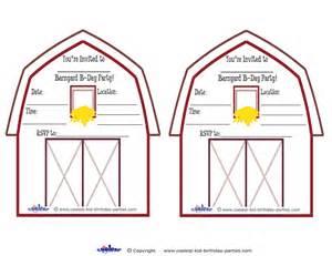 Barn Invitation Template by Printable Barnyard Invitations Coolest Free Printables
