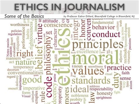 Journalism Code Of Ethics by Examining The Journalistic Code Of Ethics