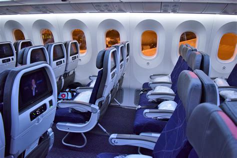 boeing 787 cabin exclusive inaugural route for american s 787 9 plus