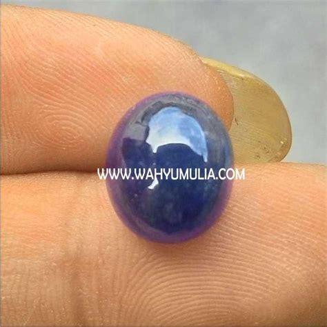Permata King Safir Blue Safir batu blue safir kode 214 wahyu mulia
