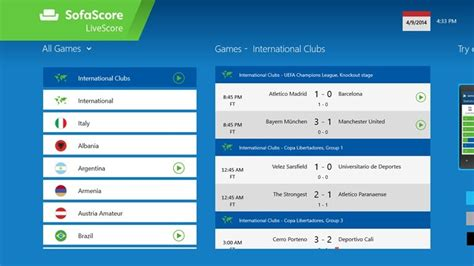 sofa score app get live scores from the brazil 2014 world cup with