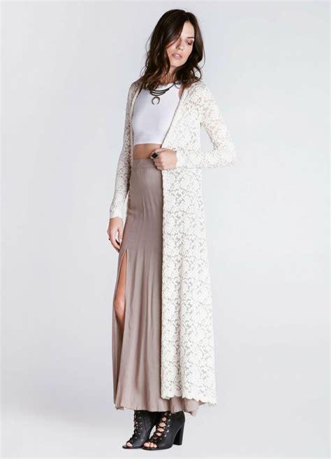 longcardi ladiva spandek lace maxi cardigan clothes
