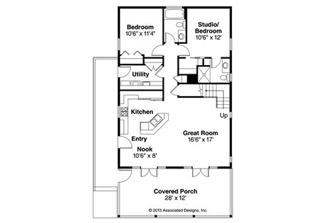 Cottages Floor Plans Cottage House Plans Lyndon 30 769 Associated Designs