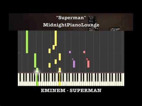 tutorial piano eminem superman by eminem piano tutorial in a minor youtube