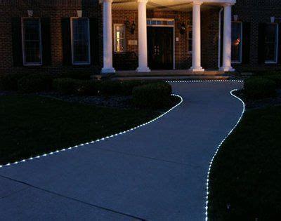 solar powered led tube lights rope lighted walkway