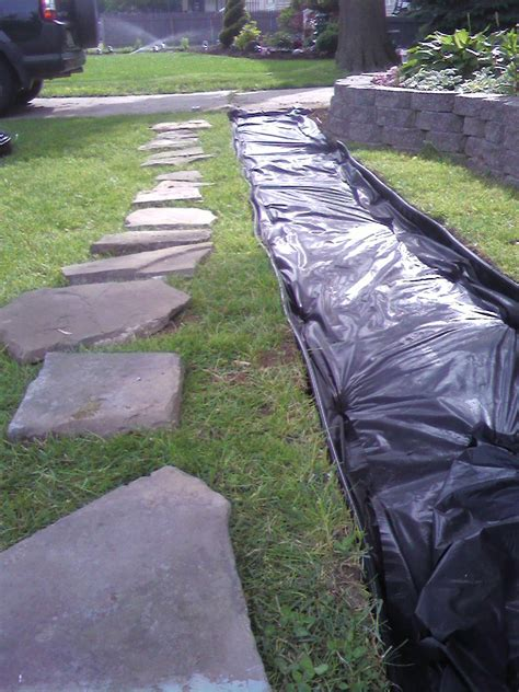 early train weekend project completed slate walkway