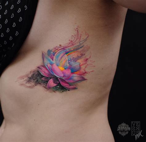 watercolor lotus tattoo watercolor lotus flower best design ideas