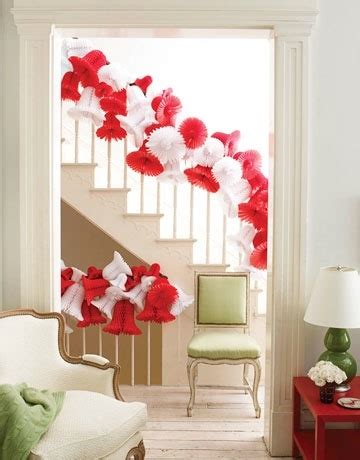 What Is A Banister Tissue Paper Holiday Banister I Love Christmas