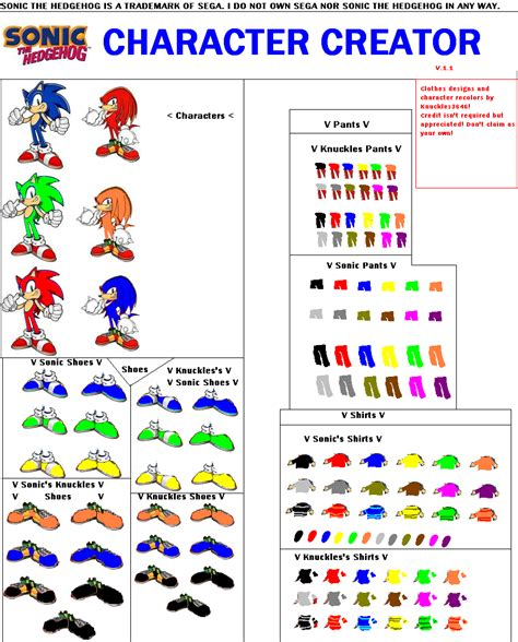 knuckles3646 s sonic character creator bmp picture