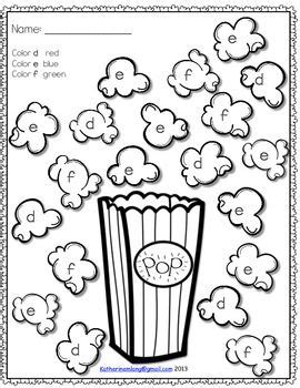 popcorn coloring pages preschool popcorn letters worksheets letter worksheets popcorn