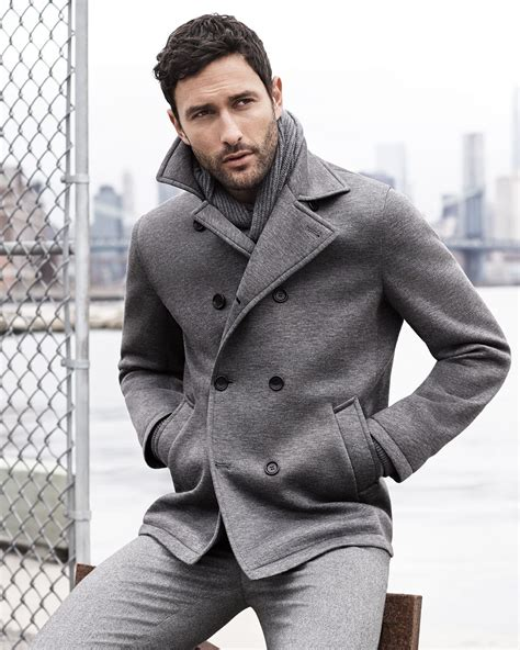 light grey peacoat mens grey pea coats jacketin