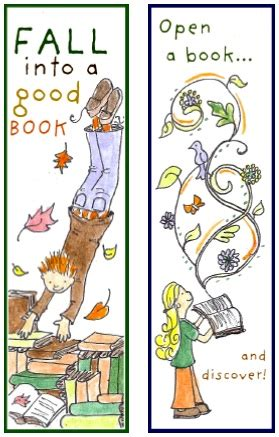 Just For You Fall Into Reading Bookmarks Things To Make And Do Crafts And Activities For Fall Into A Book Template
