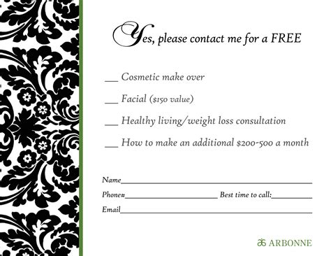 rsa lead card for exhibitors template arbonne invitation sles images invitation sle and