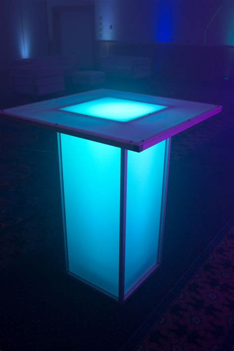 Lighted Table by Led Tables Illuminated Dpc Event Services