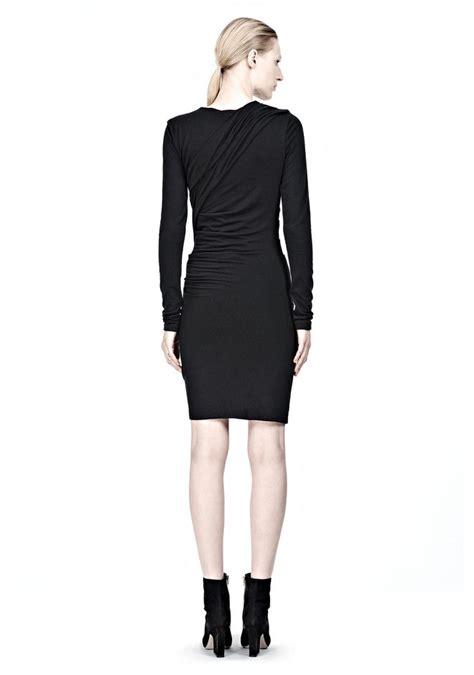 long sleeve drape dress alexander wang mohair jersey long sleeve drape dress knit