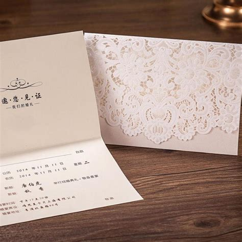 where to buy cardstock for wedding invitations horizontal laser cut wedding invitations cards white gold embossed flower paper cardstock
