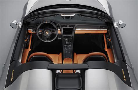 porsche concept interior porsche 911 speedster concept specs prices