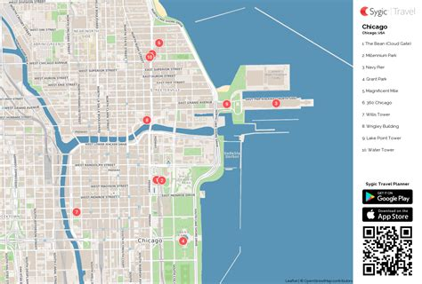 chicago map for tourists chicago printable tourist map sygic travel