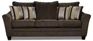 allen chenille sofa chocolate the brick
