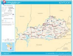 Ky State Map by Kentucky State Maps Interactive Kentucky State Road Maps