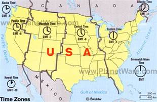 map of united states with time zones pieroblog the usa geography