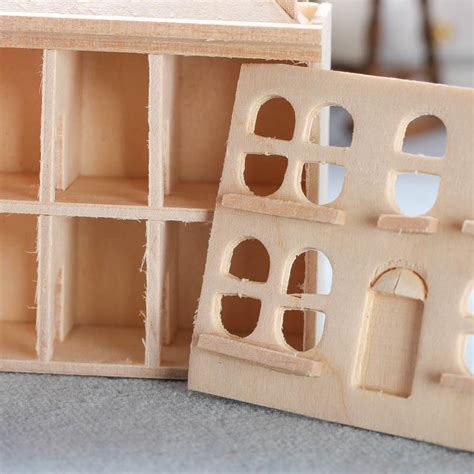 unfinished wooden doll house miniature unfinished wood dollhouse wood craft kits unfinished wood craft supplies