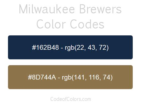 brewers colors milwaukee brewers team color codes mlb team colors rgb