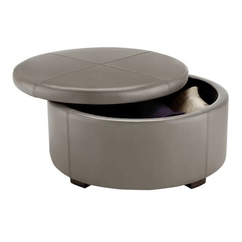 Grey Ottoman Coffee Table Living Room Grey Leather Ottoman Coffee Table With Storage Fold Up Top On Brown