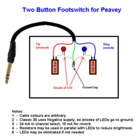 peavey 2 on footswitch wiring diagram wiring diagram
