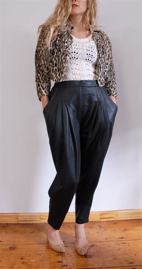 soft leather pants  black deadstock