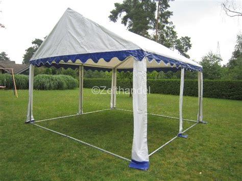 pavillon 4x4 wasserdicht partyzelt bierzelt pavillon zelt 4x4 m blau wei 223