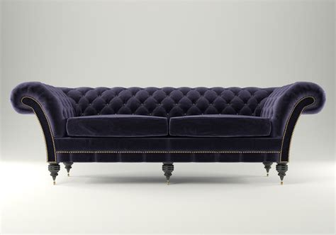 3d couch model chesterfield sofa 3d model