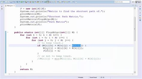 coding shortest route floyd warshall algorithm code tutorial