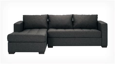 fabric sofa with chaise eq3 porter 2 piece sectional sofa with chaise fabric