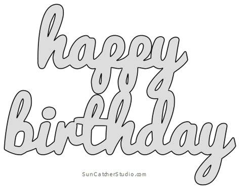happy birthday pattern template stencil printable