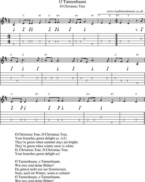 o christmas tree variation pdf sheet music common session tunes scores and tabs for guitar o tannenbaum