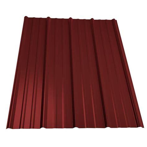 metal sales  ft classic rib steel roof panel  red