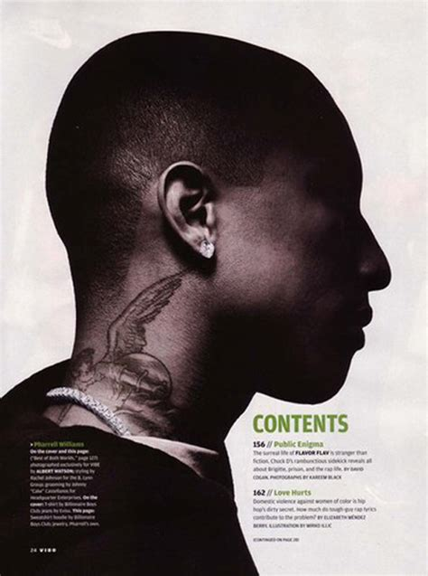 pharrell neck tattoo pharrell williams tattoos pictures images pics photos of