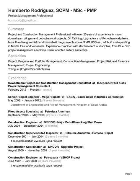 Mba Project On Fixed Assets Management by 18 Best Best Project Management Resume Templates Sles