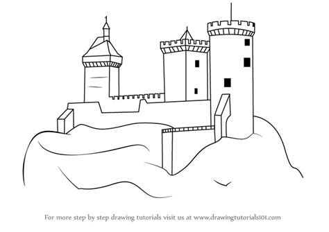 castle drawing template castle coloring pages coloring pages