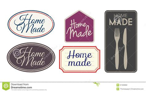 home made labels stock vector image of labeling