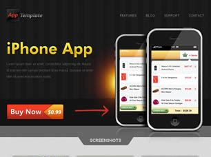 iphone css layout iphone app free website template free css templates