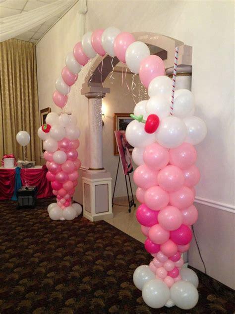 Ice cream balloon arch for entrance balloon decor pinterest