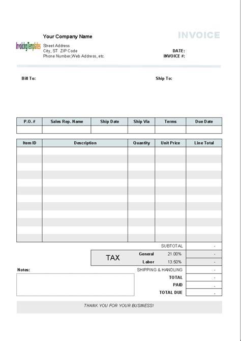 tax invoice exle 10 results found uniform invoice