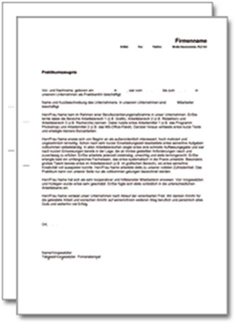 Dienstzeugnis Praktikum Vorlage Praktikumszeugnis Praktikantenzeugnis Muster Vorlage
