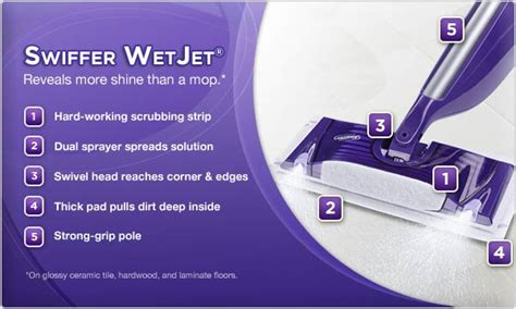 swiffer wetjet 174 reveals more shine than a mop