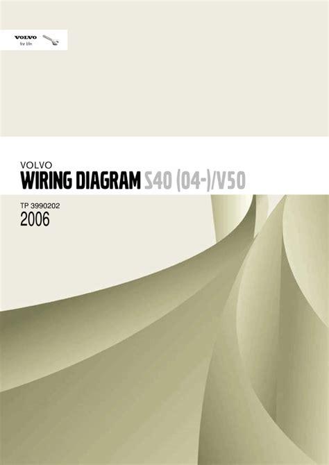 2006 volvo s40 v50 wiring diagrams en