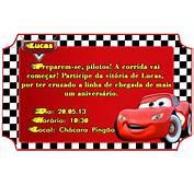 Convite Ingresso Carros  Foto Artes Digitais
