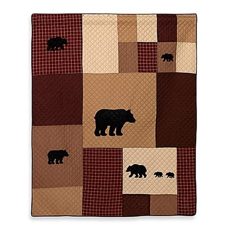 bed bath and beyond logan utah donna sharp logan bear quilted throw www